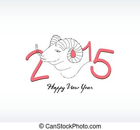 2015 year hand drawn background