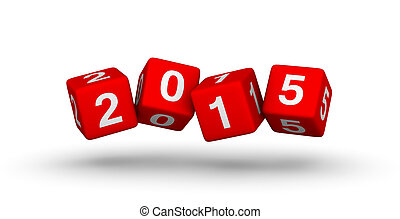2015 year red cubes symbol