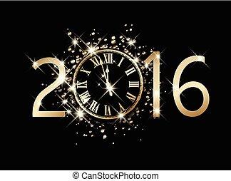 2016, νέο έτος , card.