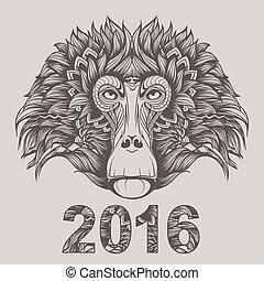 2016, -, サル, 年