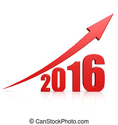 2016, 成長, 赤い矢印