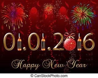 2016, 新年おめでとう, グリーティングカード