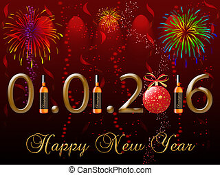 2016, 新年快樂, 賀卡