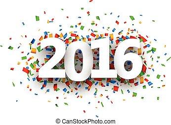 2016, 新年, 印。