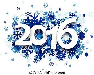 2016, 新年, card.