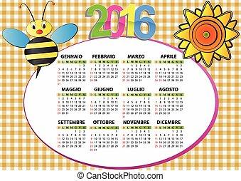 2016, 蜂, そして, ひまわり