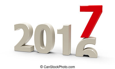 2016-2017 change represents the new year 2017,...
