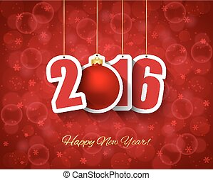 2016, año nuevo, plano de fondo