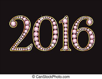 2016 Amethyst Jeweled Font with Gol
