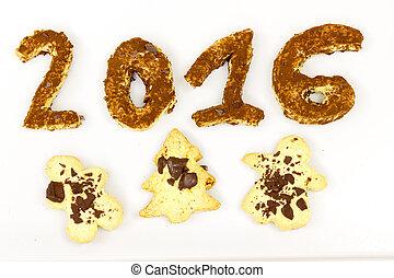 2016, anno nuovo, biscotto