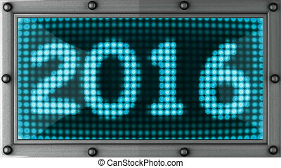 2016  announcement on the LED display