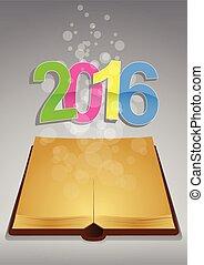 2016, antico, libro