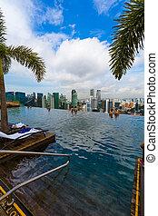 2016, april 15, 地平線, 屋頂, 池, 新加坡, 15:, 城市, -