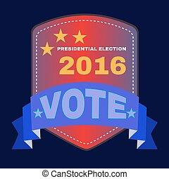 2016, bandeira, eua, presidencial, eleição