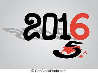 2016, bandera