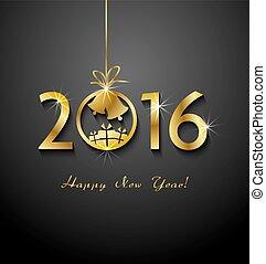 2016, buon natale, e, felice anno nuovo