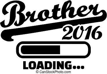 2016, carregando, irmão
