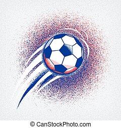 2016, championnat, football, texture, drapeau france, balle, colors., fond, rugosité, euro