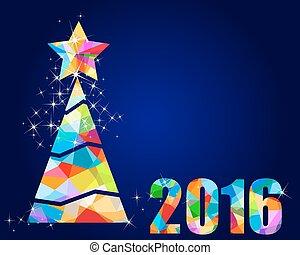 2016 christmas tree triangular design