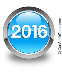 2016 Cyan blue round button