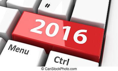 2016, dator tangentbord