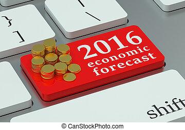 2016 economic forecast concept