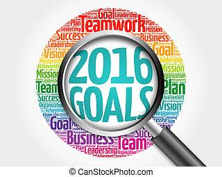 2016 Goals word cloud