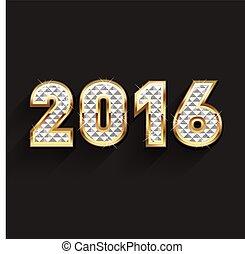 2016 Gold and Diamond Logo design