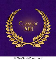 2016 graduation laurel on purple