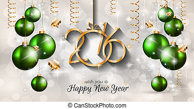 2016 Happy New Year and Merry Christmas Background for...