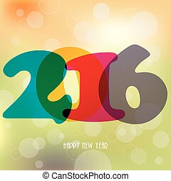2016 Happy New Year background for your greetings card, flyers, invitation, posters, brochure, banners. Colorful design