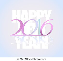 2016 happy new year background greeting template. vector illustration
