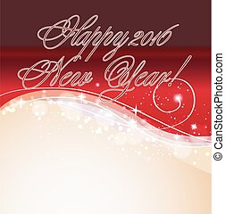 2016 happy new year background red greeting template. vector illustration