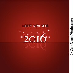2016 Happy New Year background. Vector illustration.