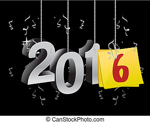 2016 happy new year hanging sign