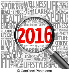 2016 health and sport goals word cloud