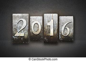 2016, letterpress