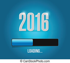 2016 loading year bar illustration design