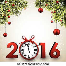 2016 New Year background. - 2016 New Year background with ...