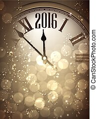 2016 New Year background. - 2016 New Year sepia background ...