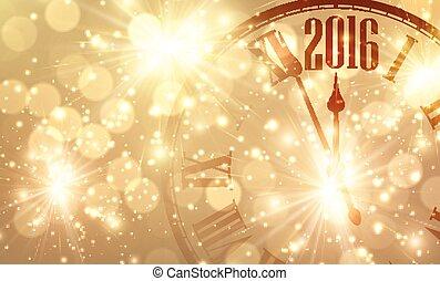 2016 New Year background. - 2016 New Year shining background...
