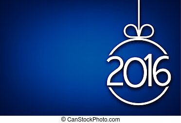 2016 New Year background. - 2016 New Year sign on blue...