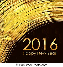 2016 New Year Background. Vector Illustration
