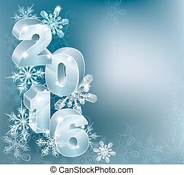 2016 New Year Christmas Background - Blue silver 2016 and...