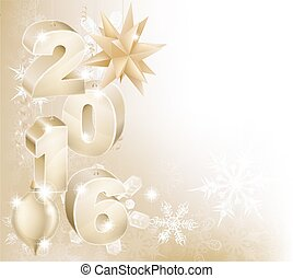 2016 New Year Christmas Decorations Background