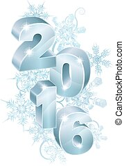 2016 New Year Christmas Decorations - Blue silver 2016 and...