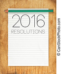 2016, New Year Resolutions Concept