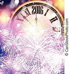 2016, nouvel an, arrière-plan.