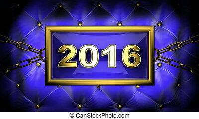 2016  on velvet background