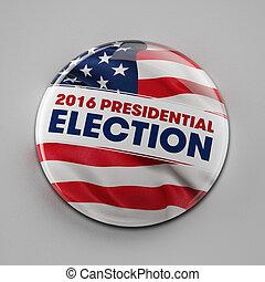 2016, präsidenten-, wahl, taste